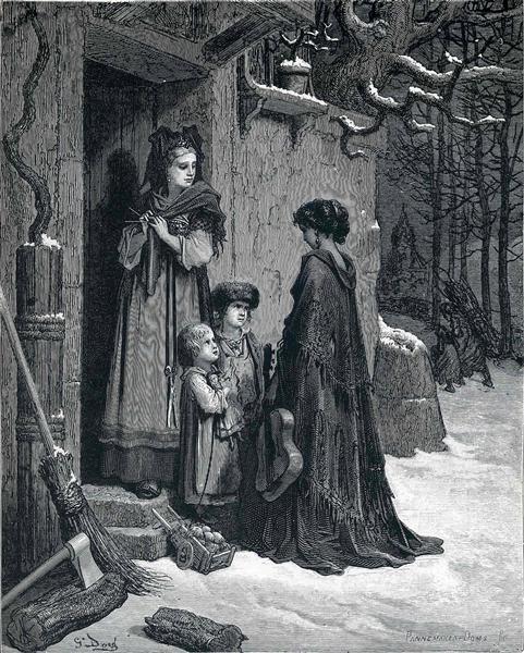 Thegrasshopperand theant - Gustave Dore