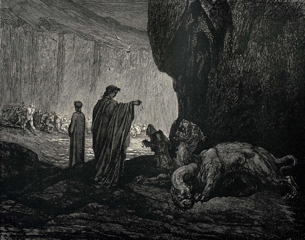 through the inferno dante and virgil essay Dantes inferno essaydante's use of allegory in the inferno, virgil is requested to lead dante through the depths of hell in order to save his soul.