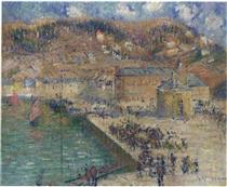 Grand Quay at Fecamp - Gustave Loiseau