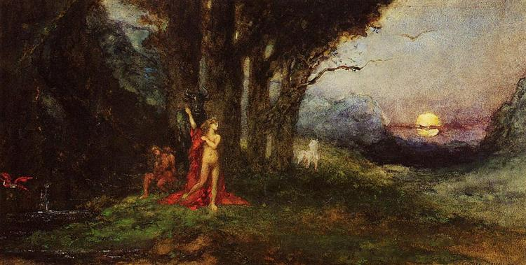 Pasiphae and the Bul, c.1876 - 1880 - Gustave Moreau