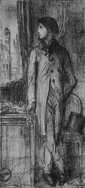 Portrait of Degas in Florence, 1858 - Gustave Moreau