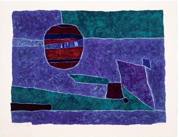 Bleu-violet, 1962 - Gustave Singier