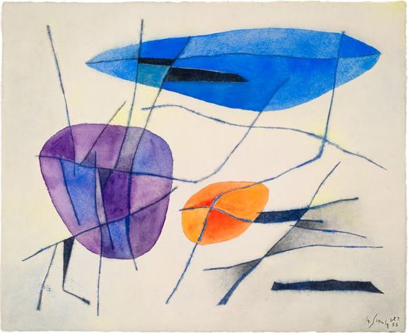 Soleil/Maree basse I, 1953 - Gustave Singier