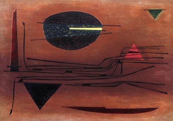 Vallée - nuit, 1958 - Gustave Singier