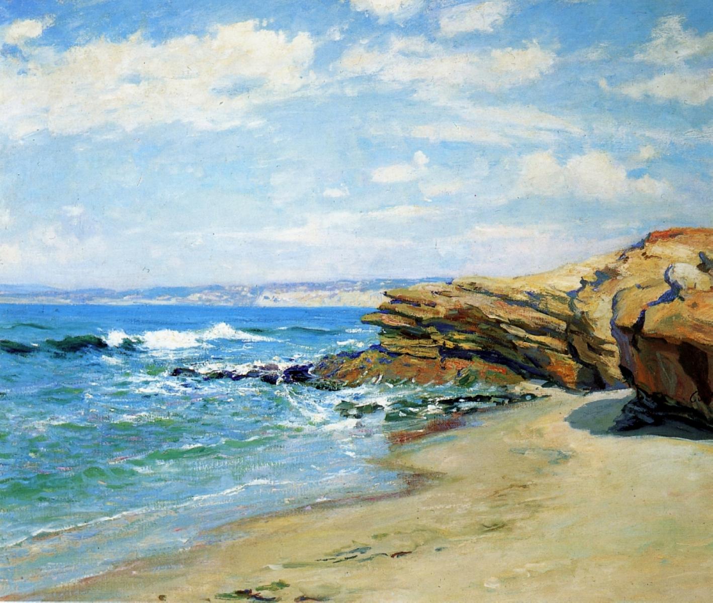 California landscape in art: Guy Rose, La Jolla Beach, ca. 1867-1925, private collection.