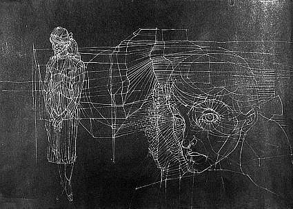 Untitled (Double-Sided Portrait of Unica Zürn) (verso), 1954 - Hans Bellmer