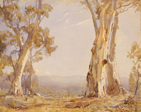 Silver and grey, 1910 - Hans Heysen