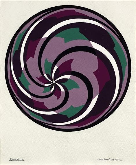 Studie zu Opus 92A, 1972 - Hans Hinterreiter