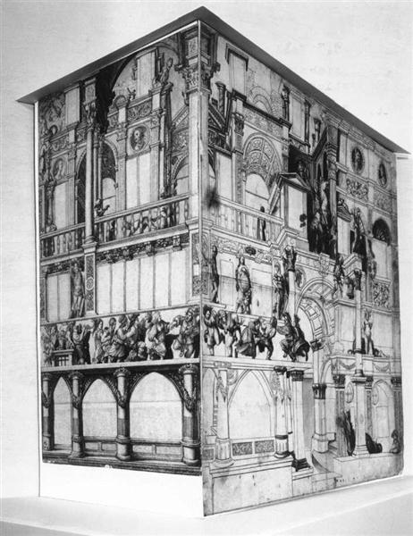 Model of the dance house in Basel - Hans Holbein the Younger