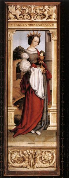 St. Barbara, 1516 - Hans Holbein the Younger