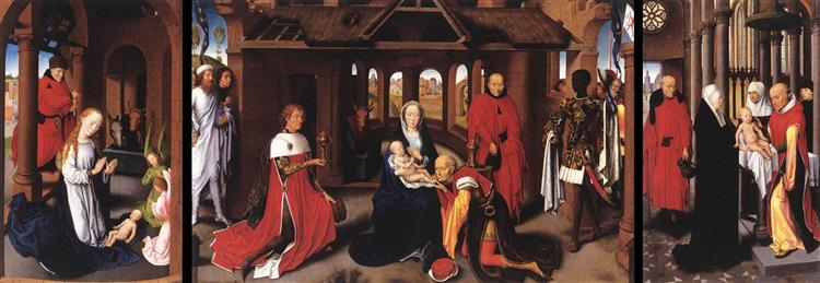 Adoration of the Magi: Whole Triptych, c.1470 - Hans Memling