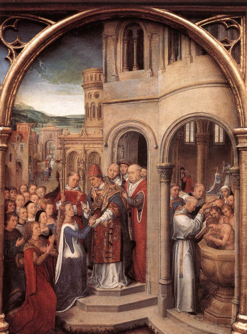 St. Ursula and her companions meet Pope Cyriacus