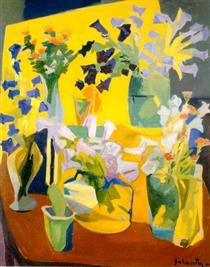 Still life, flowers - Haroutiun Galentz