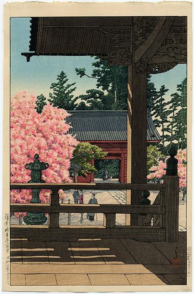 Myohon Temple, Kamakura, 1931 - Hasui Kawase