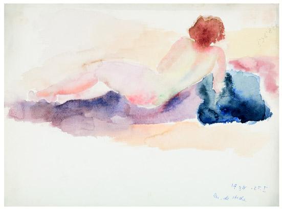 Reclining Nude, 1938 - Hedda Sterne