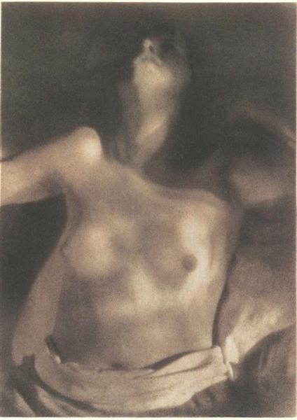 Nude on Back, 1920 - Heinrich Kuhn