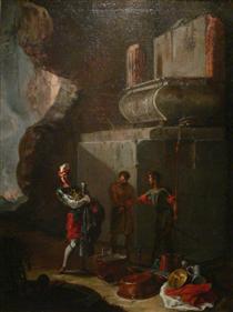 Die Plünderer - Johann Heinrich Schönfeld
