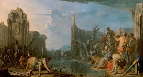 Gideon prüft sein Heer, c.1640 - c.1642 - Heinrich Schonfeld
