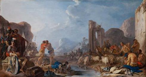 Versöhnung Jakobs mit Esau, 1642 - Heinrich Schonfeld