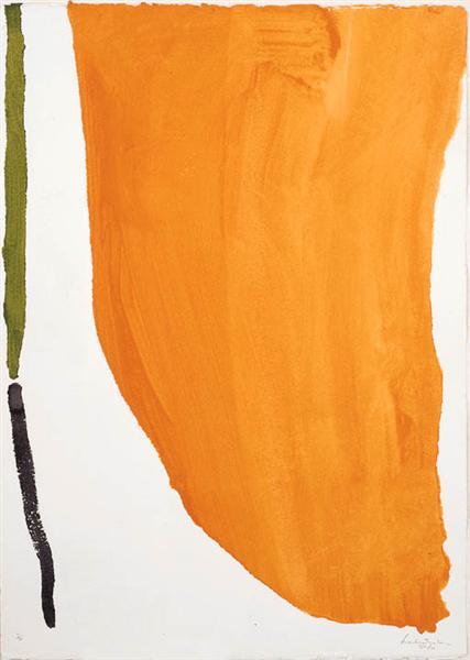 Orange Downpour, 1970 - Helen Frankenthaler