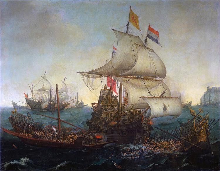 Dutch Ships Ramming Spanish Galleys off the Flemish Coast in October 1602, 1617 - Hendrick Cornelisz Vroom