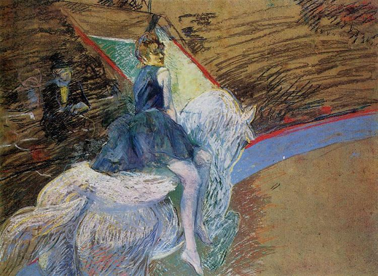 At the Cirque Fernando Rider on a White Horse, 1888 - Henri de Toulouse-Lautrec