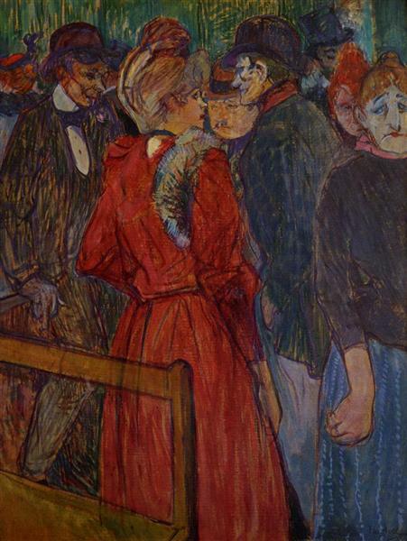 At the Moulin de la Galette, 1891 - Анри де Тулуз-Лотрек