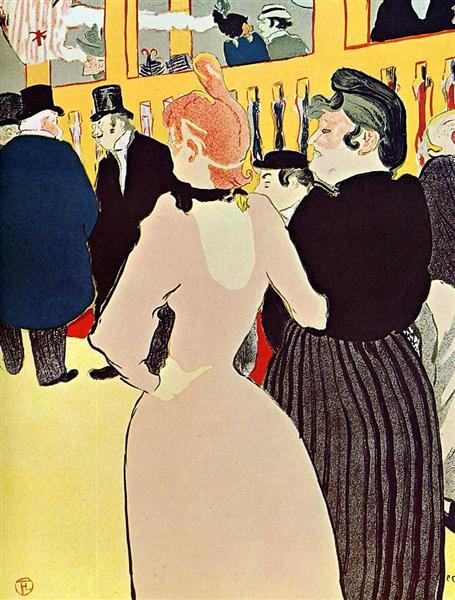 At the Moulin Rouge, La Goulue with Her Sister, 1892 - Henri de Toulouse-Lautrec