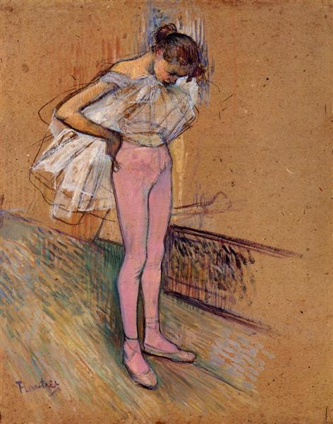 Dancer Adjusting Her Tights, 1890 - Henri de Toulouse-Lautrec