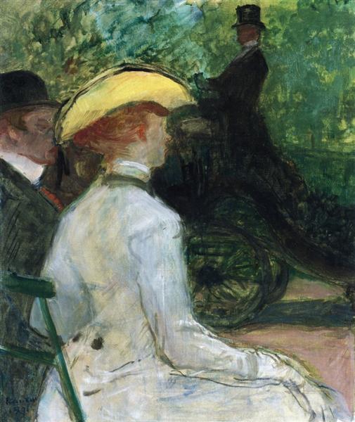 In the Bois de Boulogne, c.1901 - Анри де Тулуз-Лотрек