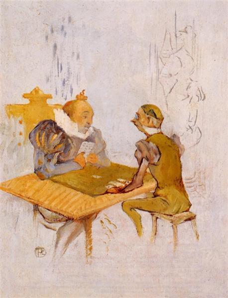 The Beauty and the Beast The Bezique, 1895 - Henri de Toulouse-Lautrec