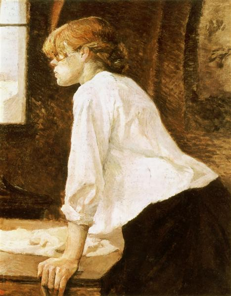 The Laundry Worker, 1884 - 1888 - Henri de Toulouse-Lautrec