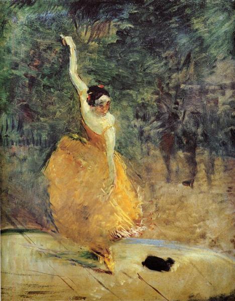 The spanish dancer 1888 henri de toulouse lautrec for Toulouse lautrec works
