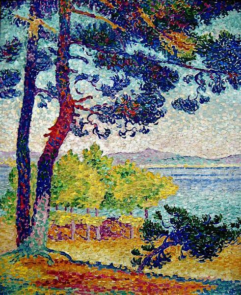 Afternoon at Pardigon, Var, 1907 - Henri-Edmond Cross