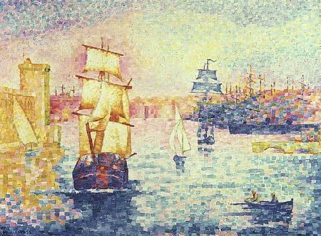 The Port of Marseilles, c.1909 - Henri-Edmond Cross