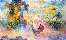 Woman in the Park - Henri-Edmond Cross