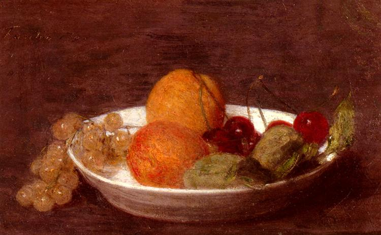 A Bowl Of Fruit, 1870 - Henri Fantin-Latour
