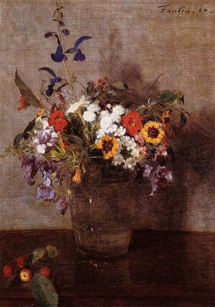Diverse Flowers, 1864 - Анри Фантен-Латур