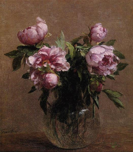 Vase of Peonies, 1902 - Henri Fantin-Latour
