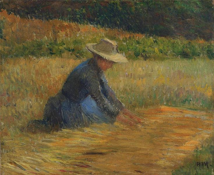 Peasant Woman in the Fields - Henri Martin
