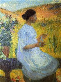 The Blue Dress - Henri Martin
