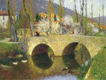 The Bridge at Labastide du Vert in Spring - Henri Martin