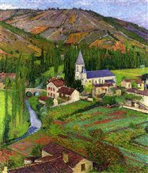 The Church at Labastide - Henri Martin