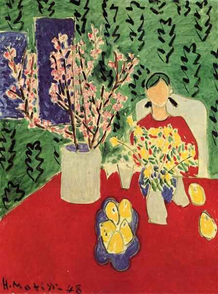 Plum Blossoms, Green Background, 1948 - Henri Matisse