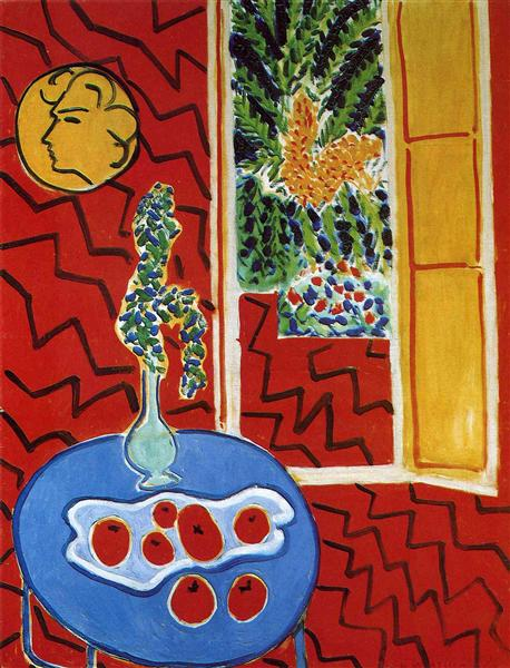 Red Interior. Still Life on a Blue Table, 1947 - Henri Matisse