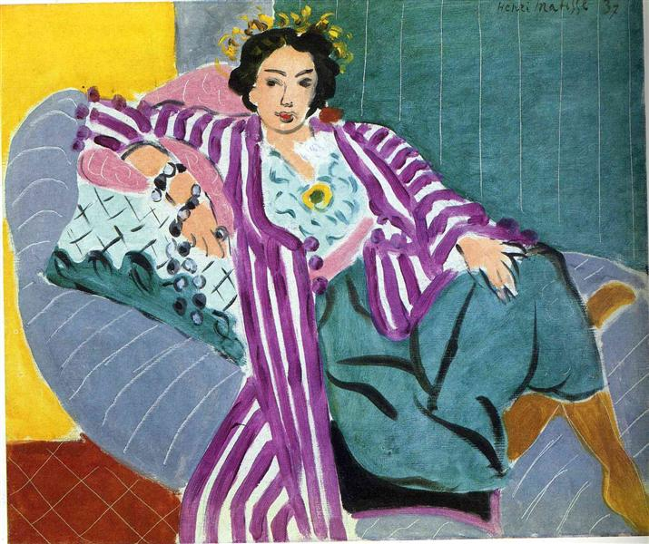 Small Odalisque in Purple Robe, 1937 - Henri Matisse