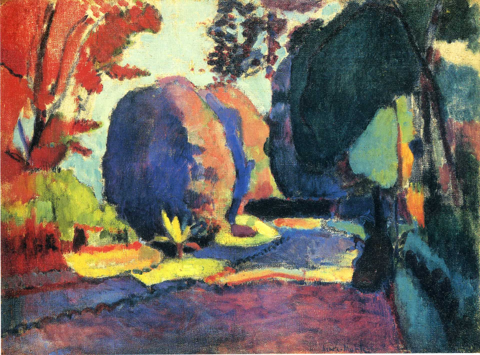 The luxembourg gardens henri matisse for Les jardins de collioure