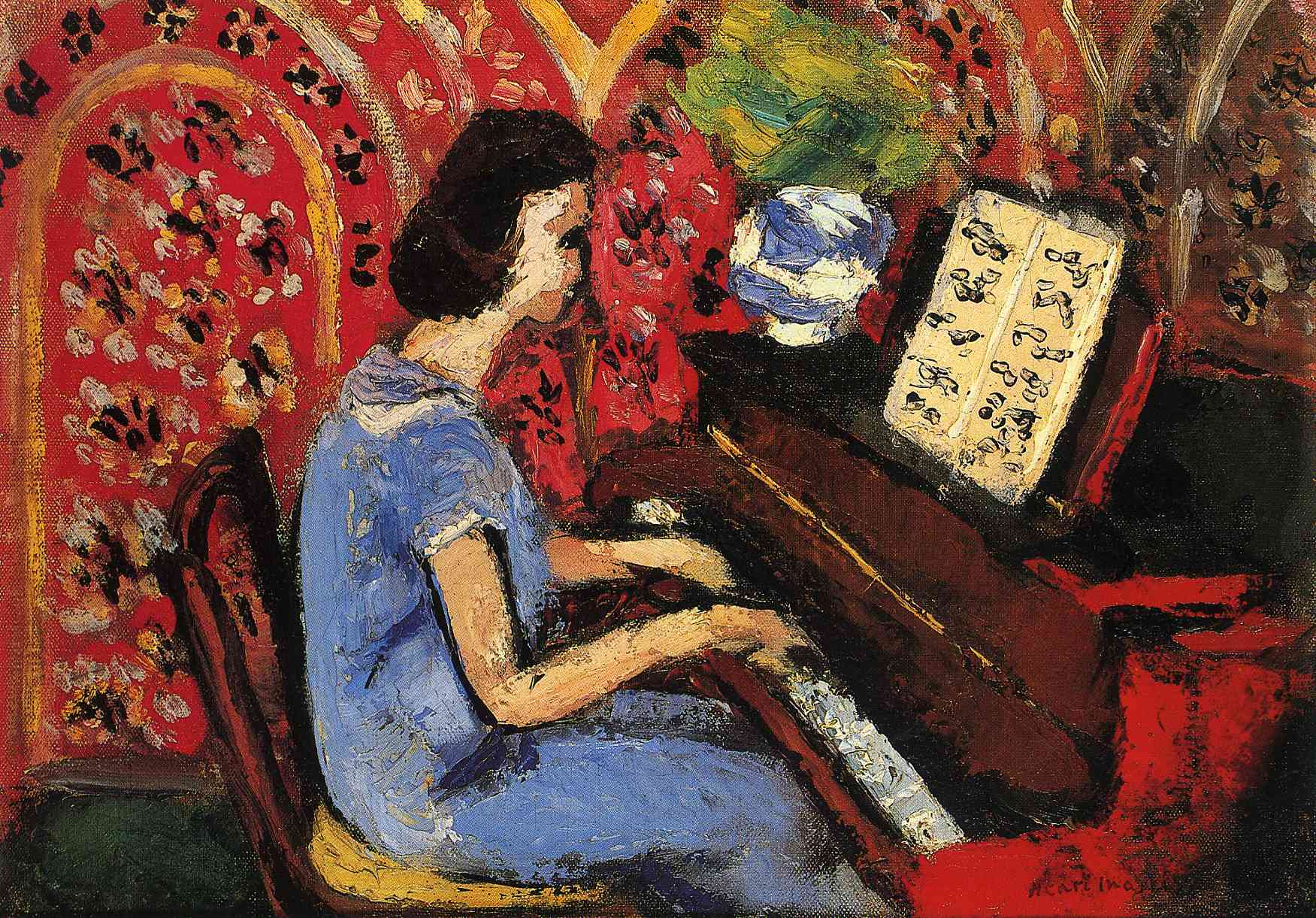 Woman at the Piano - Matisse Henri - WikiArt.org