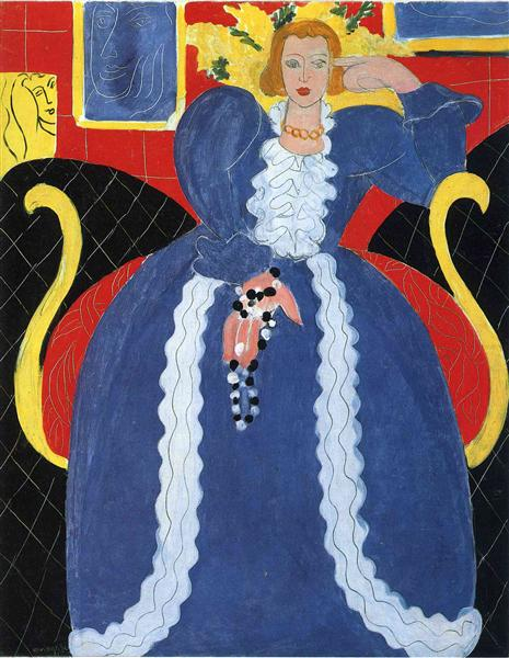 Woman in Blue, or The Large Blue Robe and Mimosas, 1937 - Henri Matisse