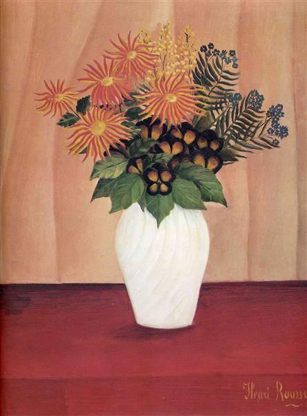 Bouquet of Flowers, 1910 - Henri Rousseau